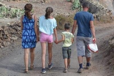family enjoying exercise games for kids