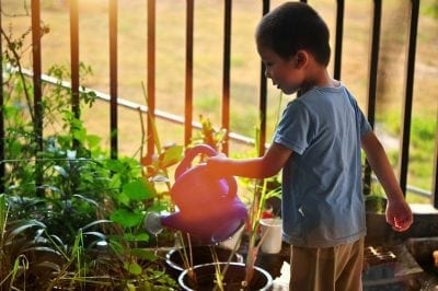 gardening as exercise games for kids