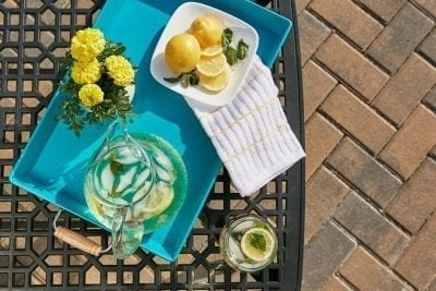 lemon water on the table to restore digestive enzymes