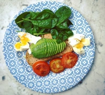 egg with vegetables and avocado fast metabolism