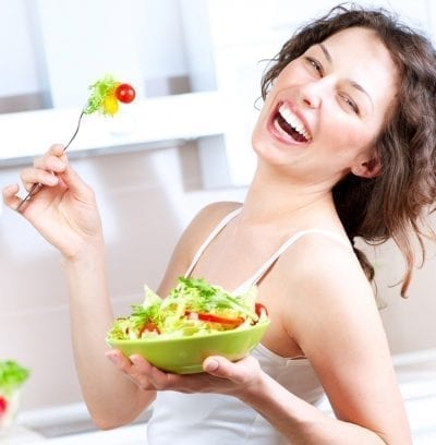 woman happy with new diet and lifestyle fast metabolism