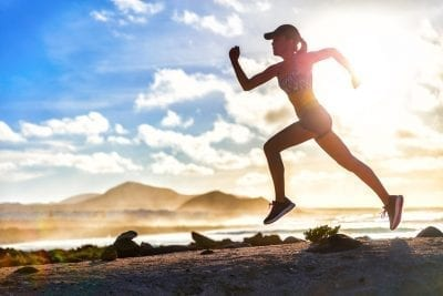 woman running healthy lifestyle for fast metabolism
