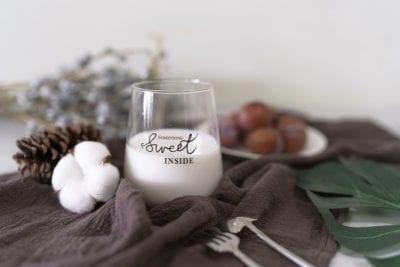 milk in a glass calcium source