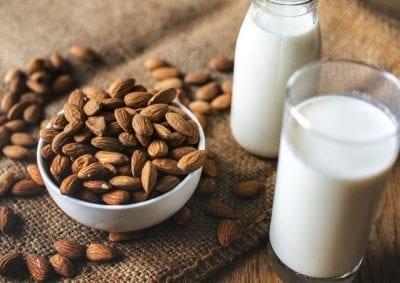 milk in glasses almond sources of calcium
