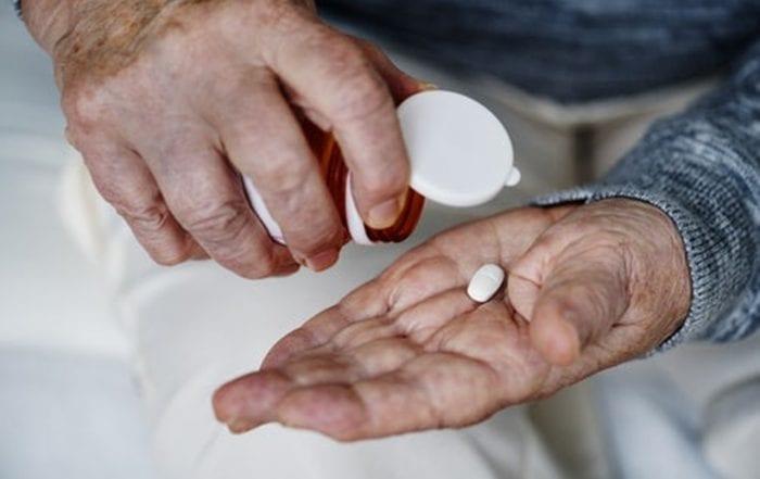 man having calcium supplementation