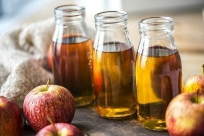 Apple cider vinegar shots apple fruit gut type