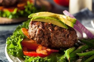 meat with avocado vegetables heal sibo with keto diet