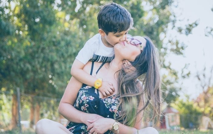 mom and son treat ADHD naturally