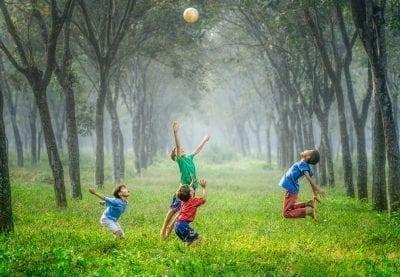 kids playing treat ADHD naturally