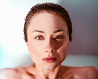 woman beautiful skin gut heal skin health connection