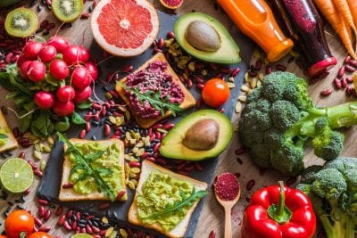 different fruits and vegetables vegan diets