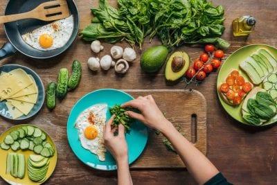 gut loving foods avocado, dark greens, chicken